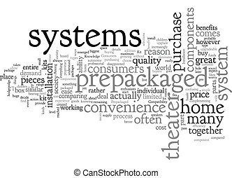 Box Kit Home Theaters text background wordcloud concept