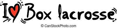 Box lacrosse love - Creative design of Box lacrosse love