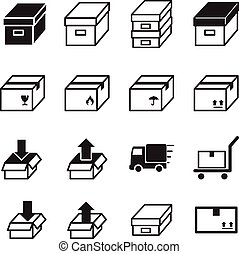 Box & Logistic delivery icons. Vector illustration Symbol