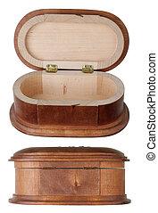 box., mässa, trä, produktion, smycken