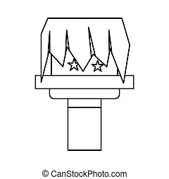 Box magic icon, outline style