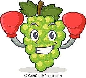 box, mladický zrnko vína, charakter, karikatura