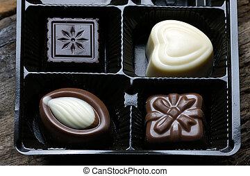 Box of chocolate bonbon