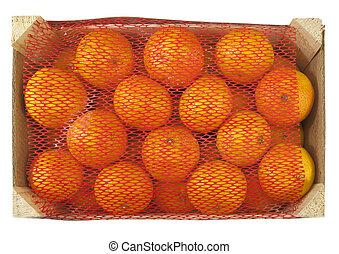 box of fresh clementines