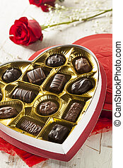 Box of Gourmet Chocolates for Valentine's Day