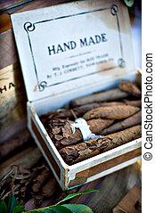 Box of hand made cigars