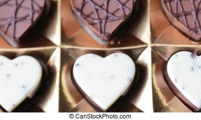 Box of Heart Shaped Chocolates