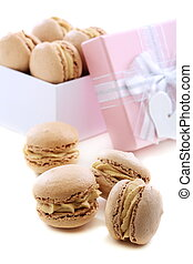 Box of macaroons.
