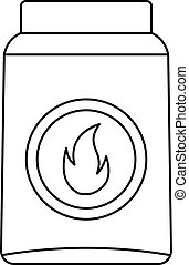 Box of matches icon, outline style
