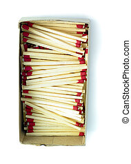 box of matches isolated on a white background