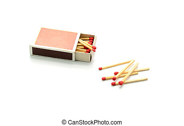 Box of matches isolated on white background