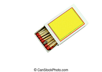 Box of matches isolated on white background. with clipping path