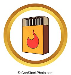 Box of matches vector icon
