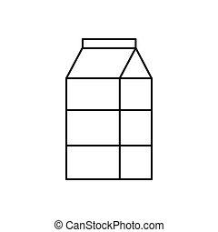Box of milk icon, outline style