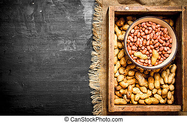 box of peanuts.