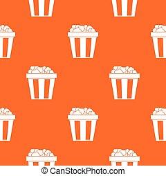 Box of popcorn pattern seamless
