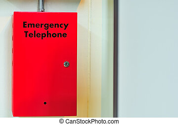 Box of telephone emergency call security