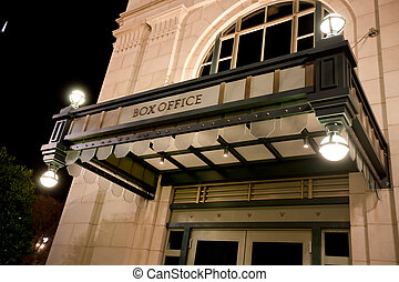 Box Office Exterior at Night
