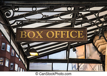 Box Office Sign - A sign at a box office.