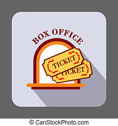 Box office ticket concept background, cartoon style
