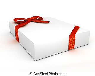 box over white background