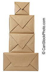 box package wrap - close up of carton box post package on ...
