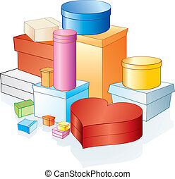 Box, Packages - Vector various gift box, packages