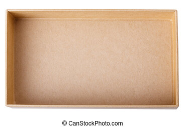 box Isolated on white background Clipping Path