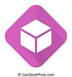 box pink flat icon