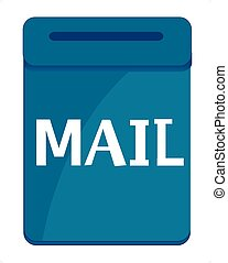 Box postal blue