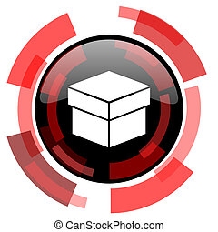 box red modern web icon