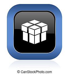 box square glossy icon