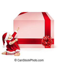 box., szent, tehetség, nagy, karácsony, fogalom, háttér, gyermek, white kalap, karácsony