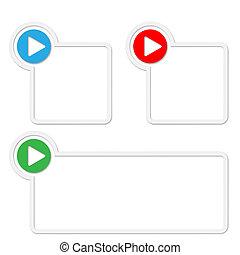 box, text, dát, tři, šipka