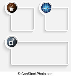 box, text, dát, tři, ikona