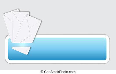 box, text, obálka, tři
