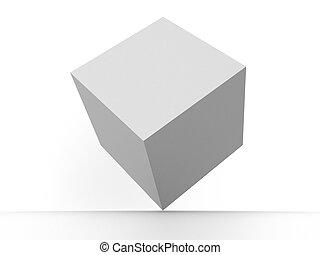 Box - Three-dimensional graphic illustration. box 3d
