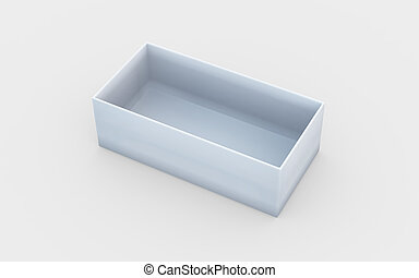 box tray view - white cardboard material of rectangle box by...