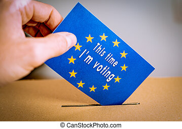 box., union, -, élection, vote, vote, européen