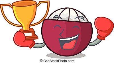 box, vítěz, čerstvý, zralý, mangosteen, osamocený, dále, talisman
