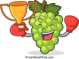 box, vítěz, mladický zrnko vína, talisman, karikatura