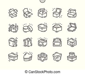 Box Well-crafted Pixel Perfect Vector Thin Line Icons 30 2x...