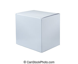 Box - White box on a white background