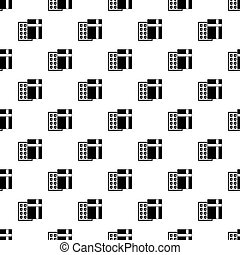 Box with chocolates pattern vector