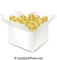 box with coin