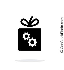 Box with gear icon on white background.
