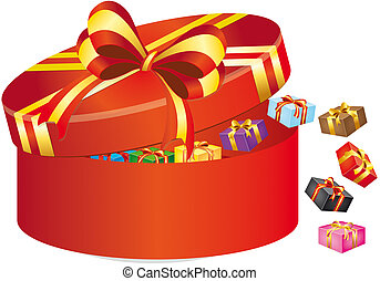 box with gift - illustrartion of box with gift