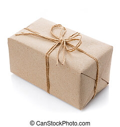 Box with gift on a white background.
