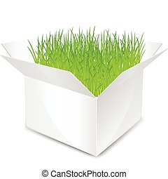 box with grass