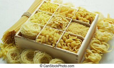 Box with great assortment of pasta